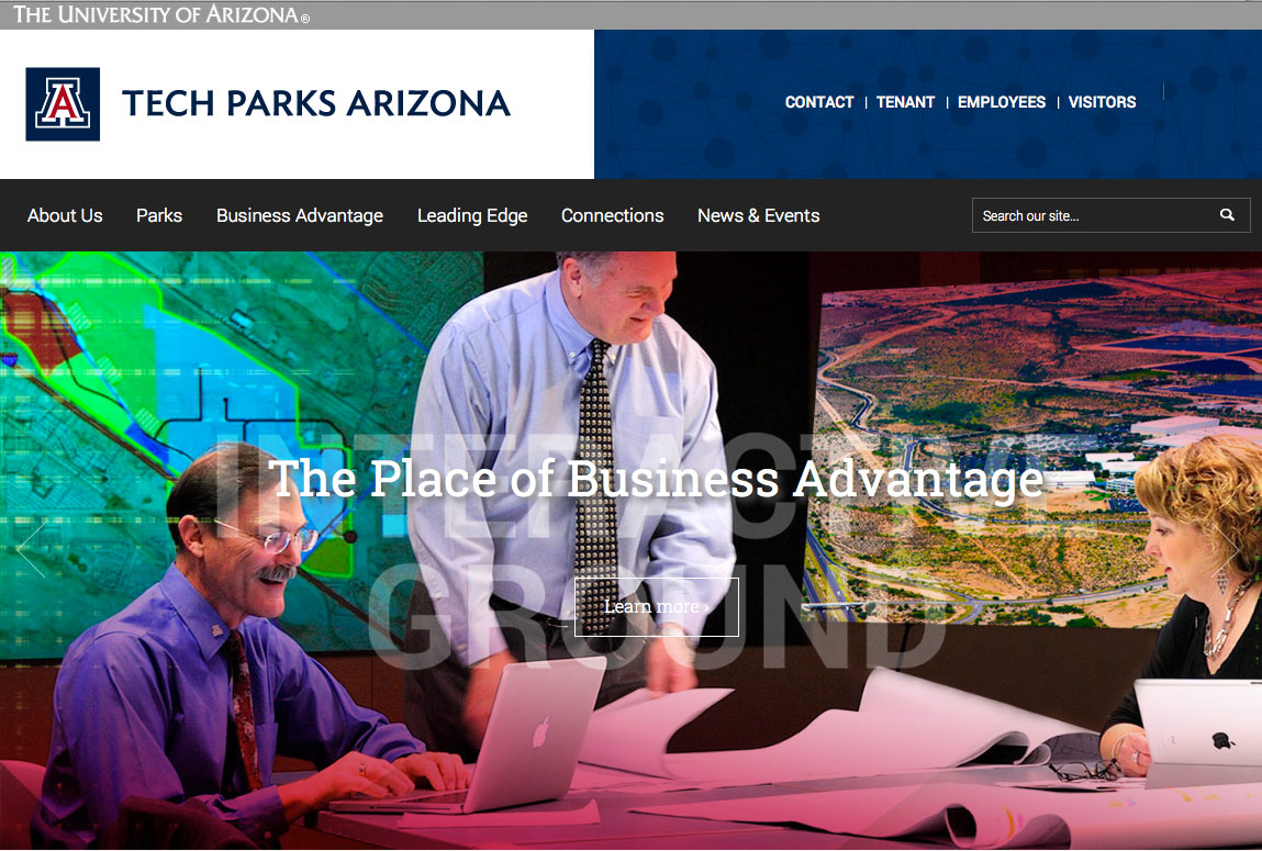 Tech Parks Arizona Website